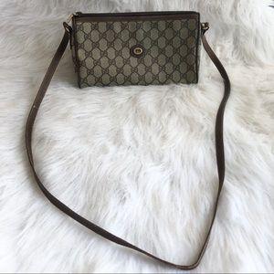 Authentic vintage Gucci monogram crossbody bag